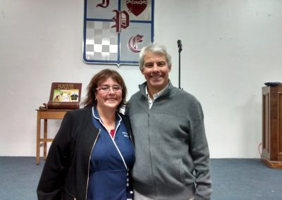 Con la Bibliotecaria Bernardita - Instituto Presidente Errázuriz